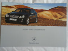 Mercedes C Class Sports Coupe price list brochure Oct 2004