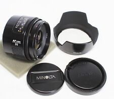 Minolta AF 35mm F/2 Wide Angle Lens for Sony Alpha Made In Japan