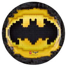 PACK 8 PLATOS DE CARTÓN 23CM BATMAN LEGO (8831)