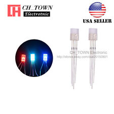 100pcs 2x5x7mm 4pin Common Anode Water Clear RGB Rectangular LED Diodes USA