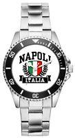 Italien - Napoli Geschenk Fan Artikel Zubehör Fanartikel Uhr 2637