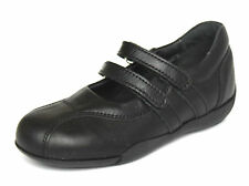 Richter Infant Girls UK 9 (EU 27) Black Leather Mary Jane Riptape School Shoes