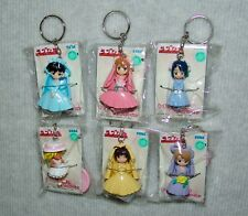 NEW SEGA Love Hina keychain figure set COMPLETE set of 6,  USA SELLER FREE S/H