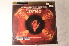 """Bernard Herrmann's Music From Alfred Hitchcock's """"Vertigo"""" Dutch LP shrink 1977"""