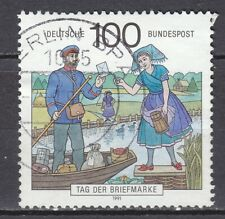 GERMANY used 1991 SC# 1687 Stamp Day - Postman Spreewald Region