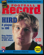 1997 VFL Football Record Essendon v Carlton March 27 - 31 Bombers Blues