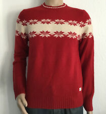 GANT W. LAMBSWOOL CHEST SNOWFLAKE CREW NEU PULLOVER COL RED GR S *16