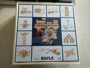 KAPLA Box of 100 Original Wooden Building Blocks - New unopened