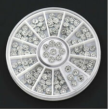 New Popular Acrylic Studs Nail Art Stickers Tips Rhinestone Decor Wheel New CH