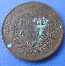 East India Company British India- 1835 one Half Anna - 1/2 Anna KM# 447.1 Bombay