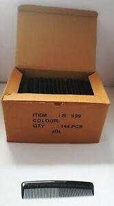 "Small Light Black Unisex Pocket Comb Swim Bag Handbag Comb Duralon UK 5"" box144"