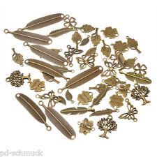 PD: 20 Mix Bronze Feder Schmetterling Charm Anhänger Kettenanhänger Pendant