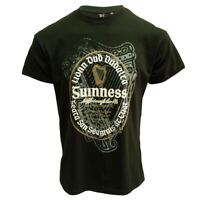 Mens T-Shirt Bottle Green Guinness Irish Label 100% Cotton Irish Gift
