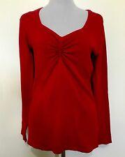 Ladies EVENTS Red Viscose Knit Jumper. Size Medium. EUC