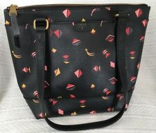 FOSSIL Coated Small GIFT PRINT Shopper Tote Purse Bag-NICE