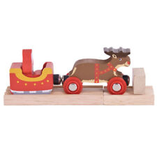 Bigjigs Rail Santa Sleigh with Reindeer-Other Rail Brands are Compatible