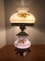 Accurate Castings A 4181 Gone With The Wind Lamp, Hand Painted Flowers