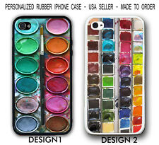 Paint Box Watercolor Palette Rubber Silicone Case For iPhone X 8 7 6 SE 5S S9 S8