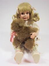 Porcelain Baby Doll + Puppy Dog Jennifer 1990 Jane Zidjunas Hamilton Collection