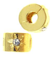 Metal Bead CLIP European Style gold- FREE BRACELET OFFER!