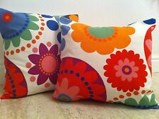 """One New Funky Flower Retro 60's 70's Era Ikea Fabric Scatter Cushion Covers 16"""""""