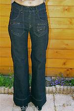 joli jeans coton et vinyle stretch évasé MC PLANET taille 36 NEUF ÉTIQUETTE