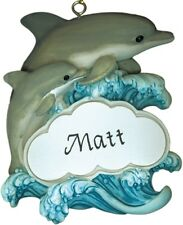 PERSONALIZED DOLPHIN MAGNET ORNAMENT