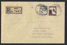 PALESTINE 1940 HAIFA REGISTERED COVER TO JERUSALEM NEAT CANCELS SEE SCANS