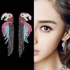 Women Fashion Earrings Bling Full of Rhinestone Parrot  Large Dangle Jewelry E