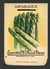 ASPARAGUS, Everitt's Antique Seed Packet, Kitchen Decor, 040