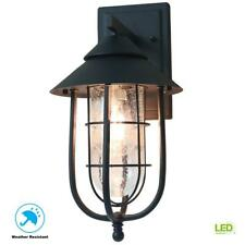 Home Decorators Collection Wisteria Collection 1-Light Sand Black Outdoor Wall