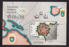 SPAIN 1988 MINT NH SOUVENIR SHEET # 2562, EXFILNA PHILATELIC EXHIBITION !!