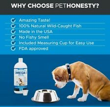 Dog Cat Wild Alaskan Salmon Oil Omega-3 Liquid Food Supplement Epa + Dha Fatty