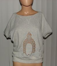 UNITED COLORS OF BENETTON SHIRT TOP GRAY STYLISH WITH TAG