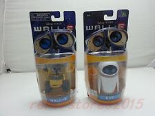 Disney Pixar Toys WALL-E Girlfriend & WALL-E Yellow Robot  EVE Action Figure New