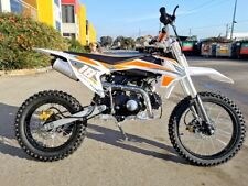 125CC PIT MOTOR DIRT BIKE TRAIL MOTOCROSS ELE-START 14/17 BIG WHEEL DINGO ORANGE