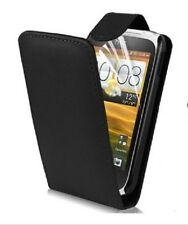 HTC Sensation Leather (Vertical) Flip Case - Black