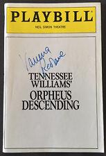 Vanessa Redgrave Signed ORPHEUS DESCENDING Playbill September 1989