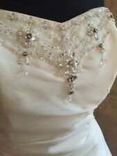 💍TO CLEAR!💍   £850 PHIL COLLINS BRIDAL Size 10-14 Jewelled Wedding Dress(520)