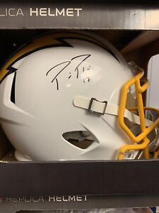 Philip Rivers Signed Los Angeles Chargers Full Size Helmet - Beckett COA