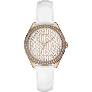 Watch GUESS Mod TRANCE ref. W0560L3 Women's leather white case copper CLEARANCE