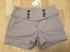 SHORT BEIGE TAUPE TAILLE-HAUTE H&M T.34 NEUF