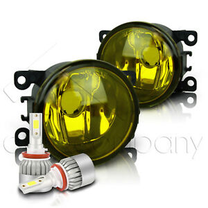 For 2005-2019 Nissan Frontier Replacement Fog Lights w/C6 LED Bulbs - Yellow
