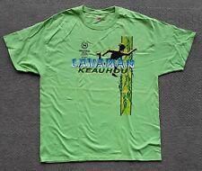 Adult Size XL Neon Green Lavaman Keauhou Triathlon Kona Hawaii T-shirt