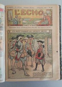 """25 Comics 1922-1923-1924: L' Echo du """"Noel"""" Parait le Dimanche – Lith."""