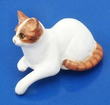 Miniature Dollhouse  Doll House White Cat 1:12 Scale New