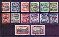 Dt. Reich 1939 - Danzig Abschied - MiNr. 716/729 gestem.- Michel 220,00 € (046)
