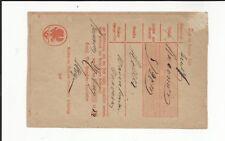 Prussia V Ründeroth Handwritten. on Postschein 1854