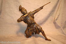 VINTAGE ASIAN STATUE SAMURAI WARRIOR SOLID FIGURINE FROM TOYO JAPAN ETHNICITY
