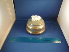 "Vintage Pearly Lady's Powder Compact ""Tonight We Love"" 1940's Music Box"